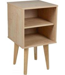 mesa de canto ballerina 1 prateleira madeirada - falkk