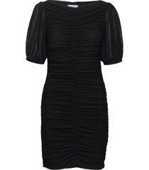 dotted mesh dresses cocktail dresses svart ganni