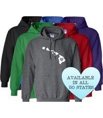 hawaii hoodie sweatshirt love home heart unisex men women state