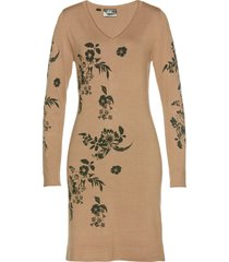 abito in maglia a fiori (marrone) - bpc selection