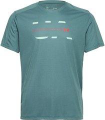 ua speed stride attitude ss t-shirts short-sleeved blå under armour