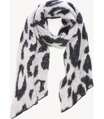 women's over leopard scarf with lurex grey from sole society