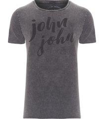t-shirt masculina rg handwritten - cinza