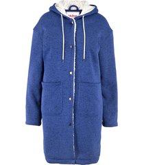 cappotto corto con pellicciotto sintetico (blu) - john baner jeanswear