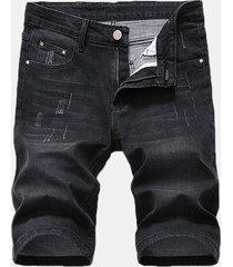 elastico sottile fori corto jeans per uomo