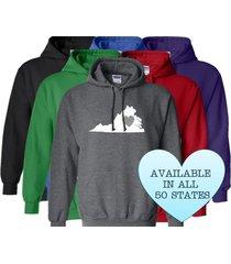 virginia hoodie sweatshirt love home heart unisex men women state