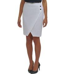 calvin klein petite asymmetrical-hem pencil skirt