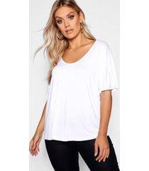 plus super soft oversized basic t-shirt, white