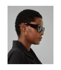 amaro feminino óculos de sol gatinho oval acetato reciclado, tartaruga