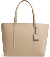 boss taylor leather shopper - brown