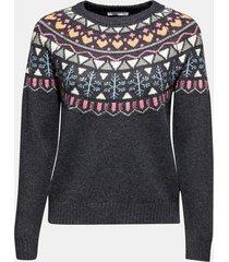 sweater con lana gris oscuro esprit