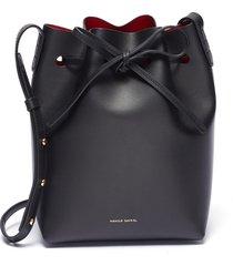 'mini' leather bucket bag