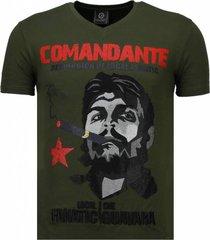 che guevara comandante - rhinestone t-shirt