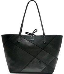bolsa sacola desigual recortes preta