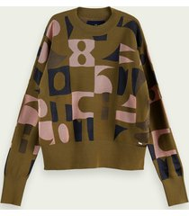 scotch & soda oversized jacquard sweater