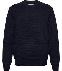 henri crew neck 10492 gebreide trui met ronde kraag blauw samsøe samsøe