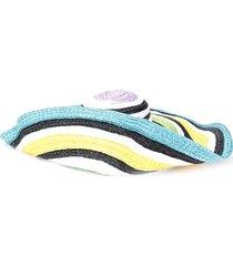 missoni mare woven striped sun hat - white