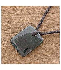 jade pendant necklace, 'dazzling glory' (guatemala)