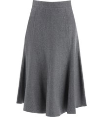 thom browne flared skirt in wool flannel