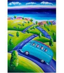 "deborah broughton surf weekend away canvas art - 36.5"" x 48"""