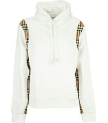 burberry checker - vintage check panel cotton oversized hoodie