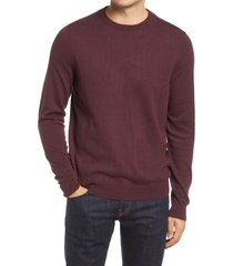 men's nordstrom cotton & cashmere crewneck sweater, size xx-large - burgundy