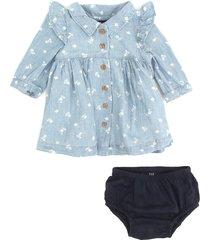vestido gap infantil com tapa fralda azul