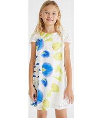 short dress swiss embroidery print - white - 11/12