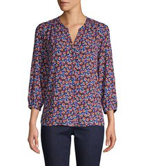 floral pintuck blouse