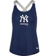 new york yankees nike legacy dri-fit elastika tank top t-shirts & tops sleeveless blå nike fan gear