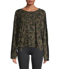 vintage havana women's camo side-tie sweatshirt - camo leopard - size s