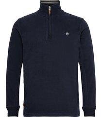 ls 1/2 zip polo dark sapphire sweat-shirt tröja blå timberland