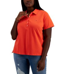 tommy hilfiger plus size solid polo shirt