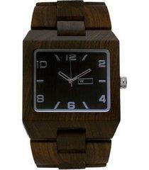 relógio de madeira woodz montana dark