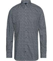 aop cotton shirt l/s skjorta business grå lindbergh