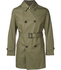 mackintosh khaki cotton storm system short trench coat gm-005bs -