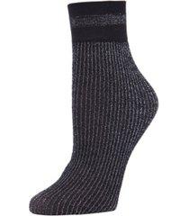 women's shimmer rib anklet socks