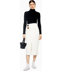 ivory button skirt - ivory