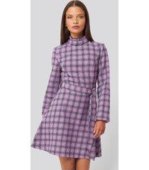 trendyol high frill neck mini dress - purple