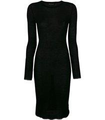 cashmere in love tiera dress - black