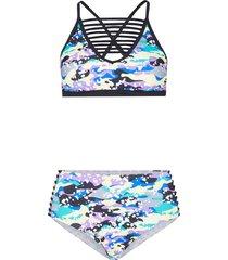 bikini a bustier (set 2 pezzi) (blu) - rainbow