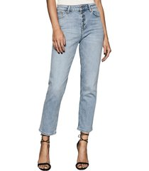 women's reiss bailey button fly jeans, size 28 - blue