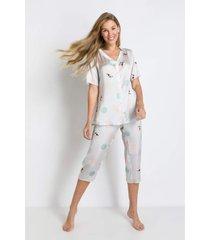 pijama manga longa acuo pijama manga longa verde. - verde - feminino - dafiti