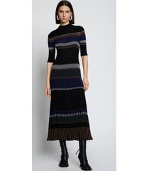 proenza schouler zig zag stripe knit dress blackmulti l