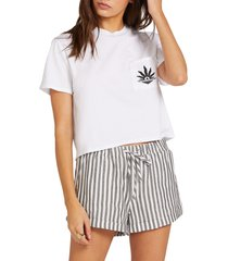 women's volcom sunday strut shorts, size x-small - blue
