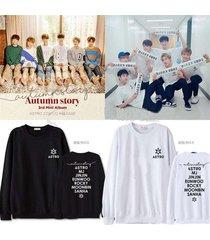 kpop astro autumn story sweater sanha hoodie eunwoo unisex sweatershirt pullover