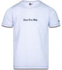 camiseta slim black squad nec branco new era - masculino