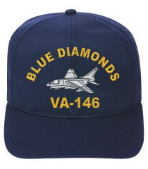 va-146 blue diamonds  a-7 corsair ii direct embroidered cap    new