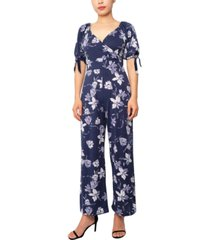 planet gold juniors' surplice jumpsuit