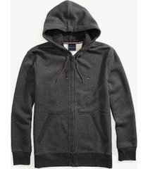 tommy hilfiger men's adaptive solid hoodie charcoal grey heather - s